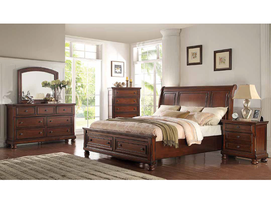 Contemporary Cal King Bed