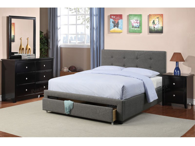amazon dhp with upholstered size full black leather bed slp faux support and platform com slat maven wooden