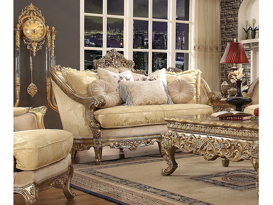 Sofa In Gold. By Homey Design
