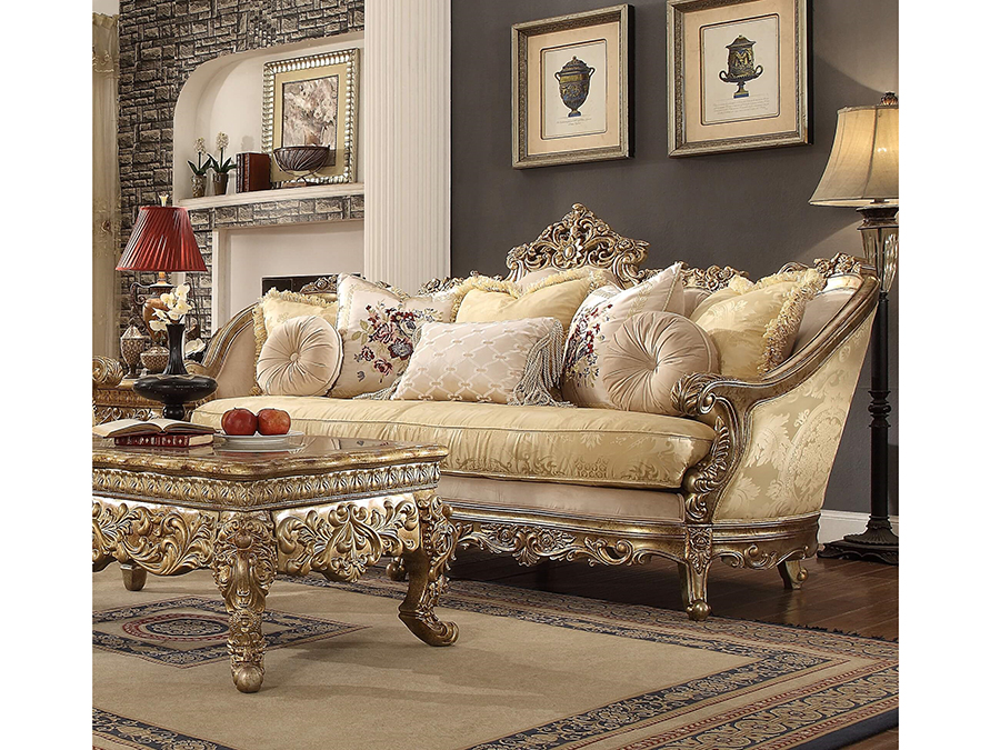 sofa in gold shop for affordable home furniture decor outdoors and more. Black Bedroom Furniture Sets. Home Design Ideas