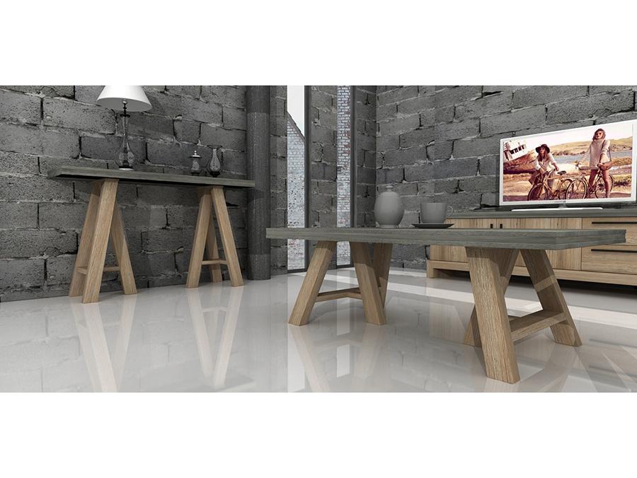 Bon Concrete U0026 Acacia Coffee Table