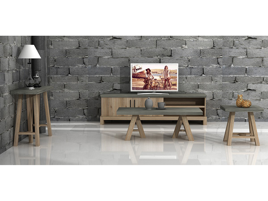 Concrete acacia coffee table shop for affordable home for Table queens acacia