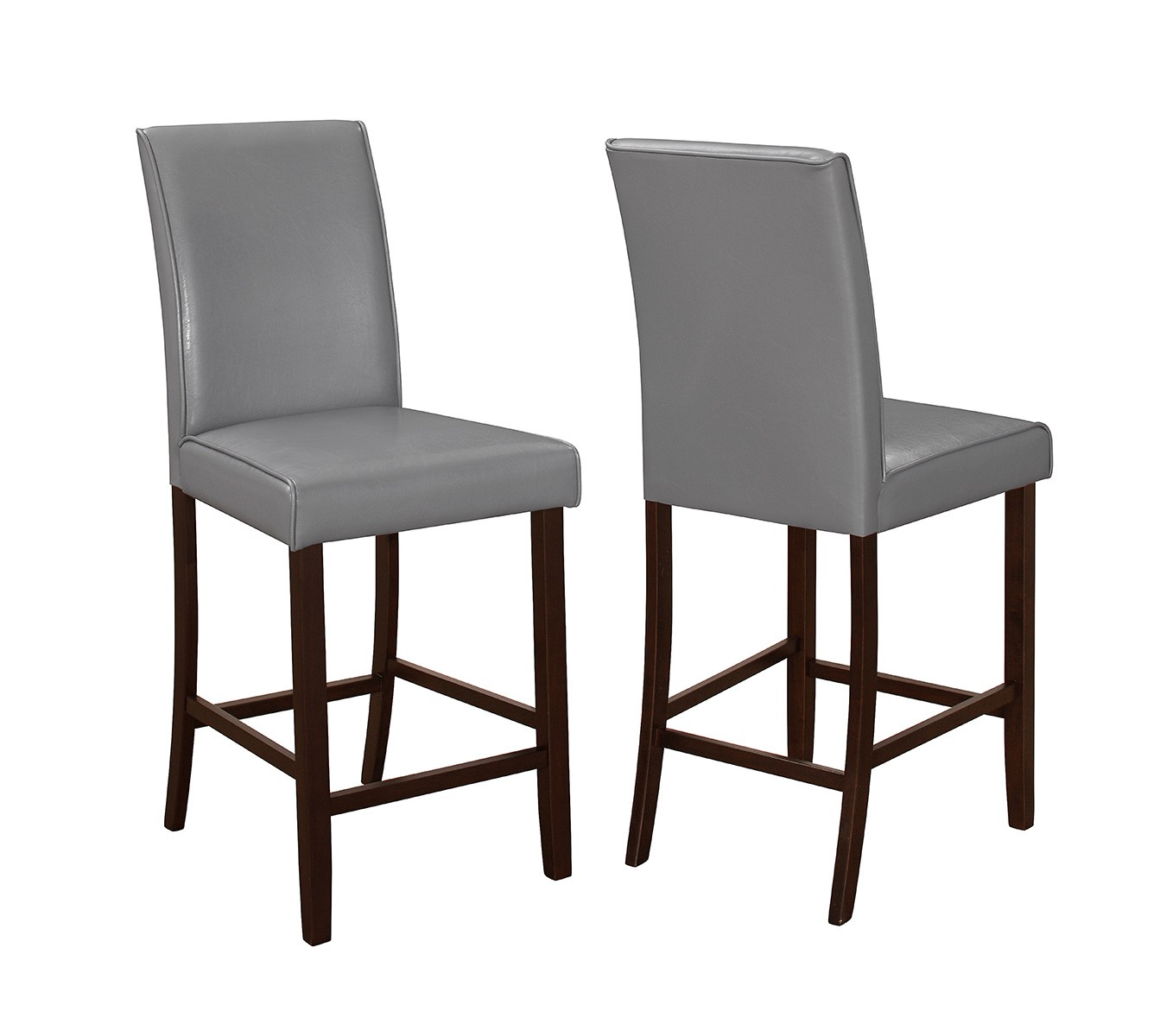 2Pcs Espresso Counter Height Chair