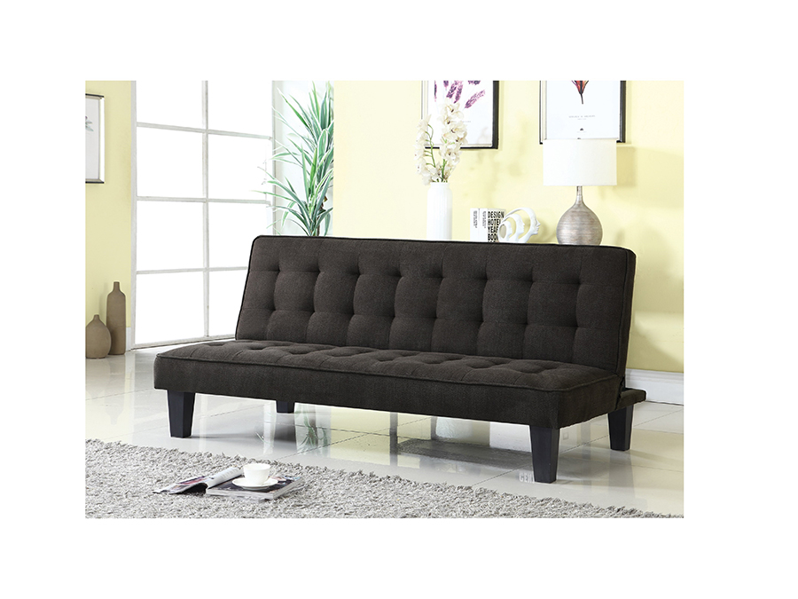 Brilliant Dark Brown Fabric Futon Sofa Bed Creativecarmelina Interior Chair Design Creativecarmelinacom