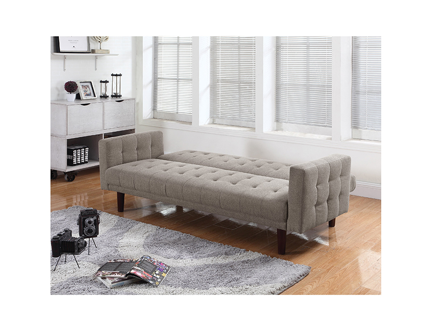 Light Taupe Chenille Sofa Bed