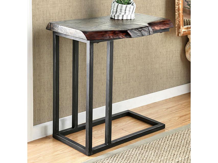 Valpa Dark Walnut Side Table