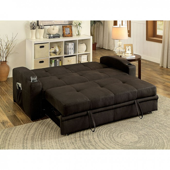 Beau Mavis Dark Brown Futon Sofa