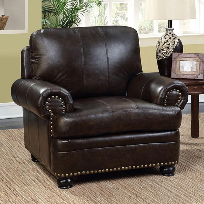Reinhardt Dark Brown Sofa Set