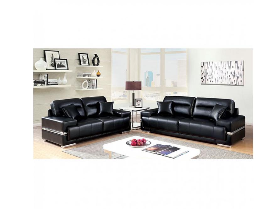 Zibak Black Sofa Set