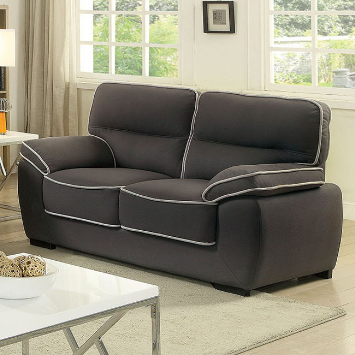 Elly Graphite Love Seat