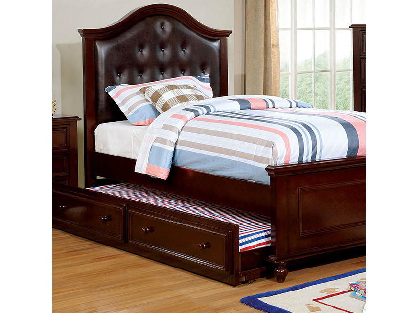 Olivia Espresso Twin Bed Wtrundle Shop For Affordable Home