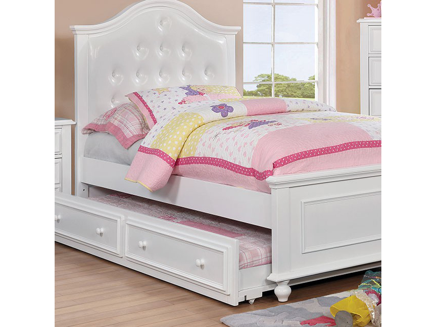 Olivia White Full Bed With Trundle - Shop for Affordable Home ...