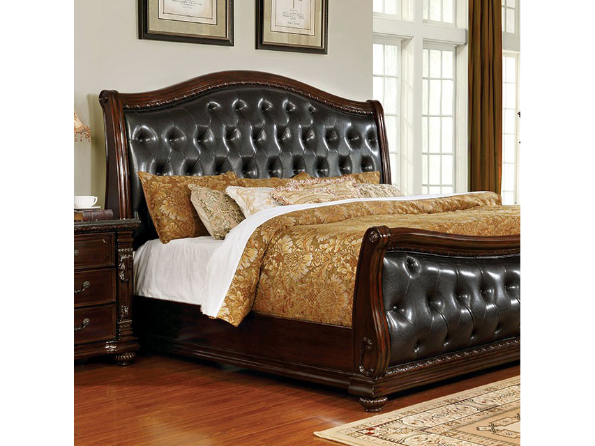 Fort Worth Dark Cherry Cal.King Bed   Shop for Affordable Home