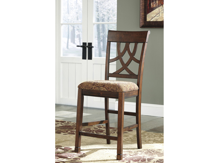 2pcs Leahlyn Medium Brown Upholstered Barstool Shop For