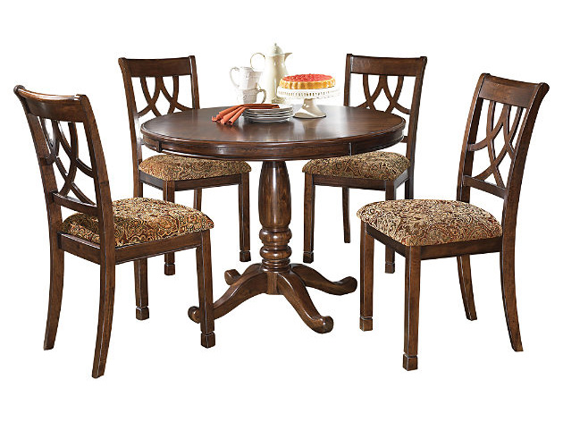 Leahlyn 5pcs Round Dining Set Shop For Affordable Home