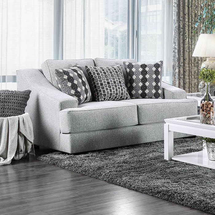 Lesath Light Gray Loveseat
