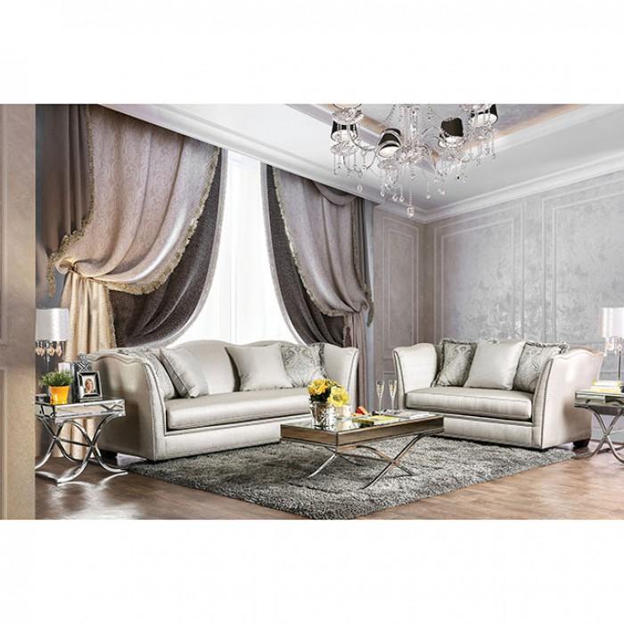 Alessandra Silver Sofa Set