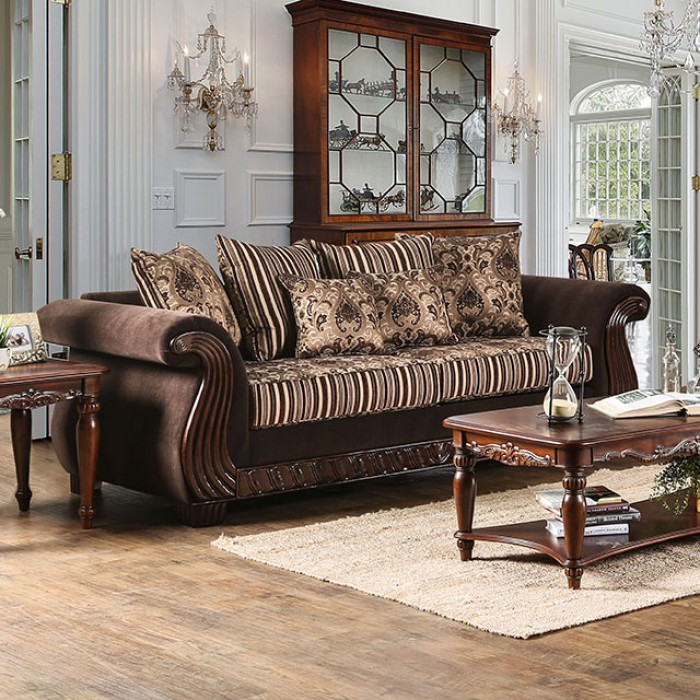 Thales Brown Chenille Sofa - Shop for Affordable Home Furniture ...