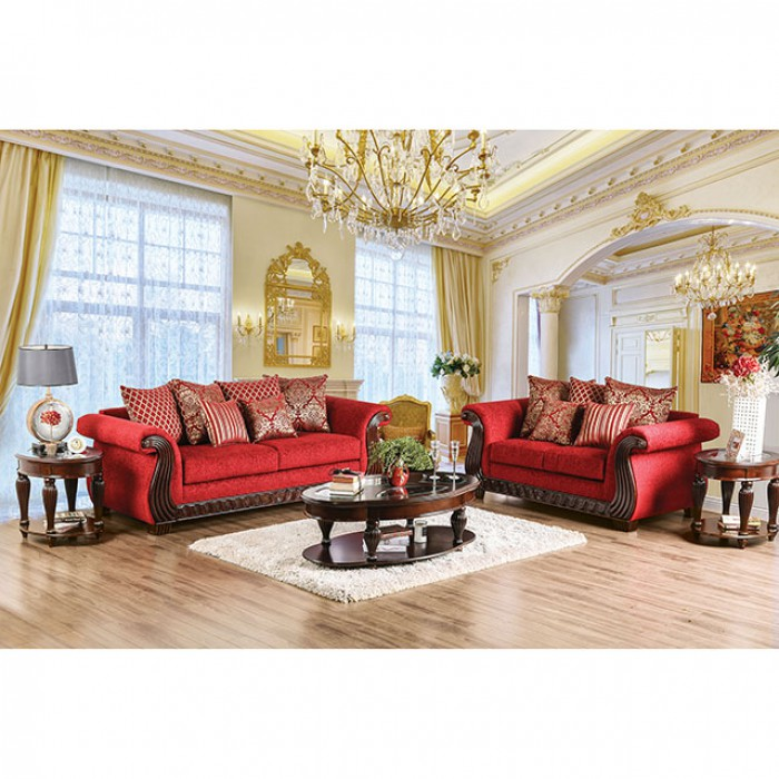 Corinna Ruby Red Sofa Set Shop For Affordable Home