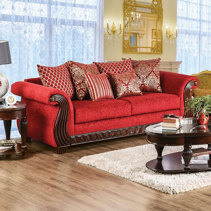 Corinna Ruby Red Sofa