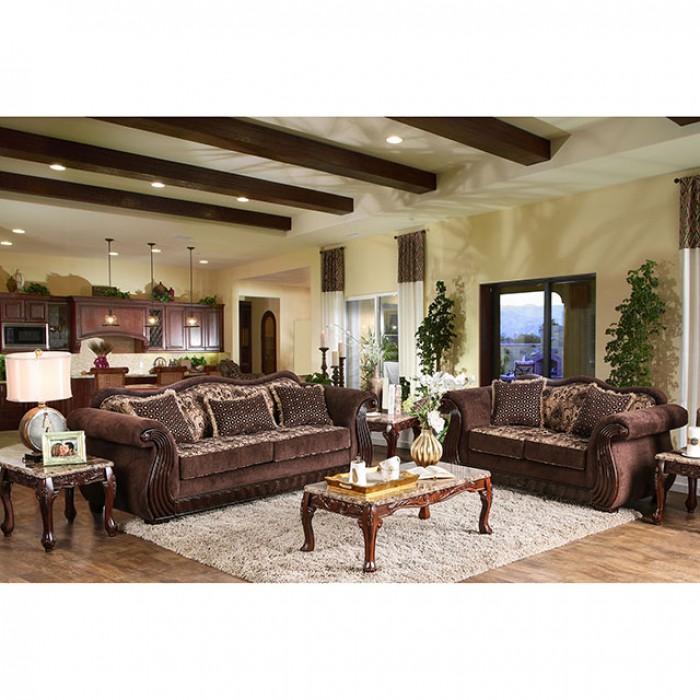 Kensett Brown Sofa Set