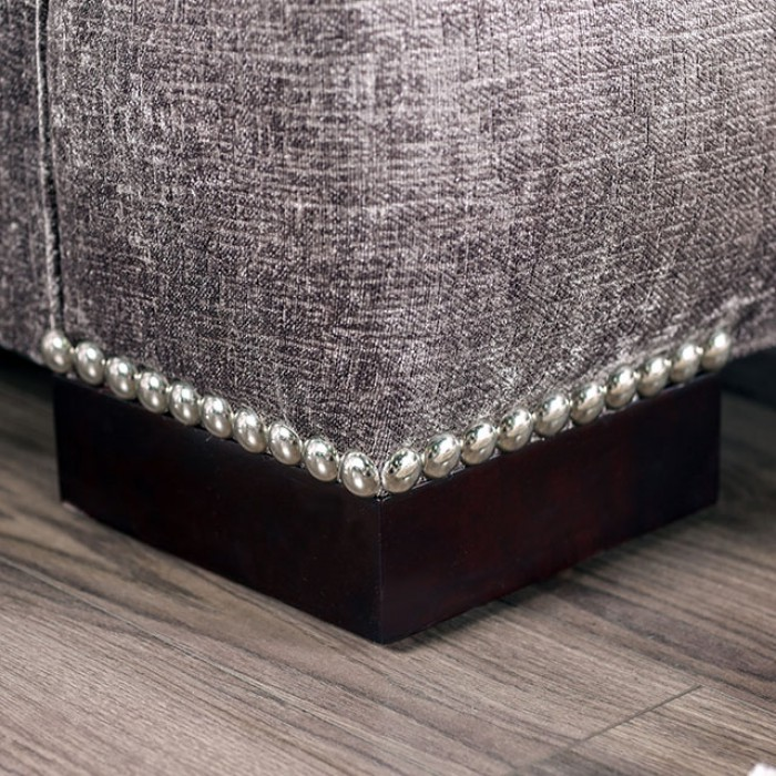 Maisie Silver Chenille Sofa