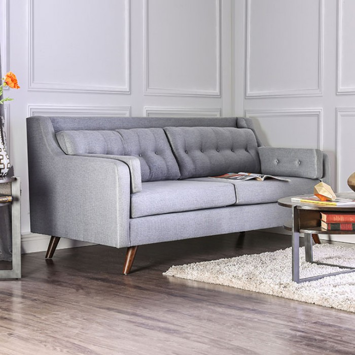 Hallie Gray Linen-like Fabric Sofa