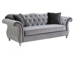 Silver Sofa Set Silver 2Pcs Sofa Set
