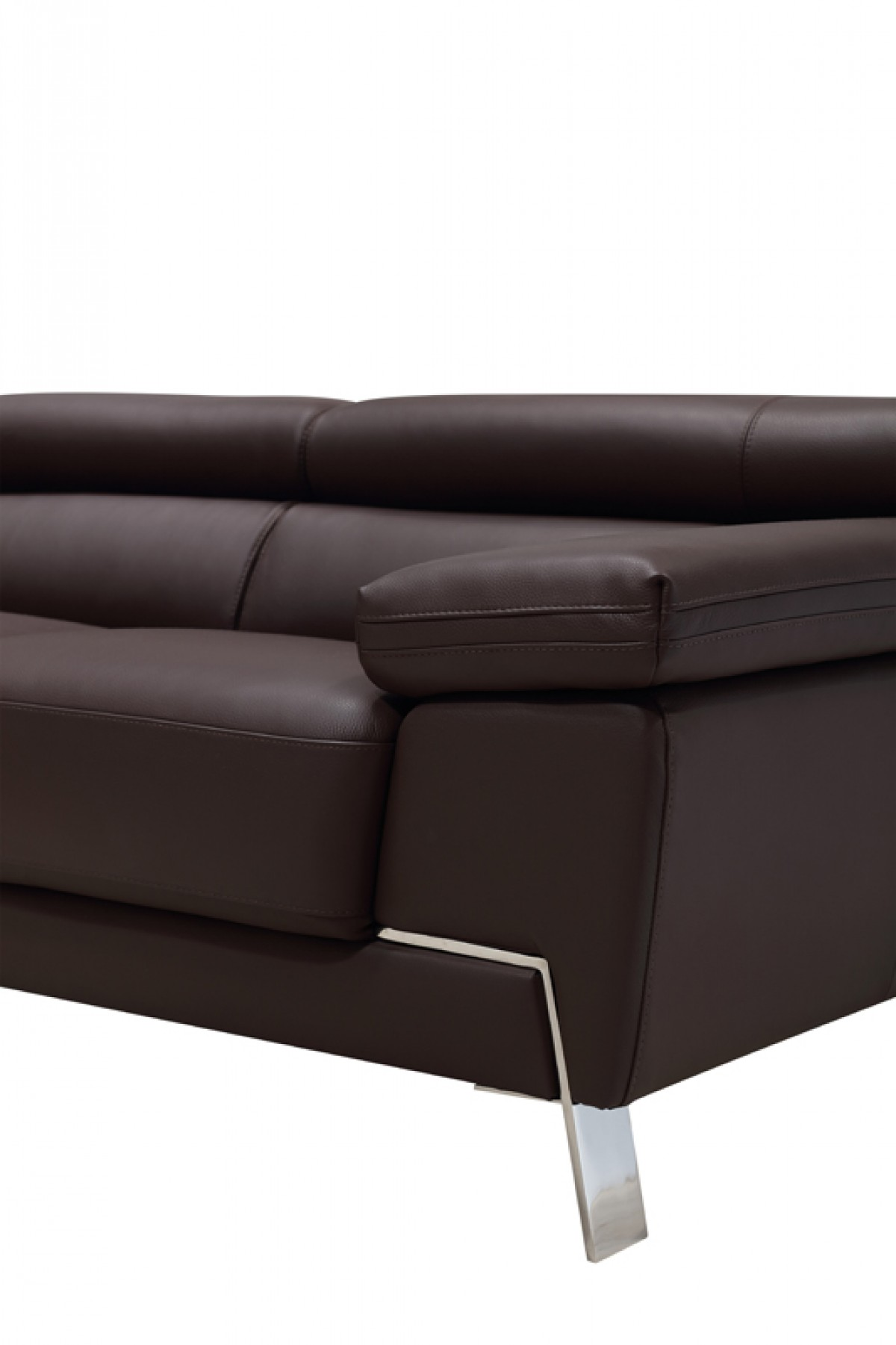Wanda Modern Brown Leather Sofa Set