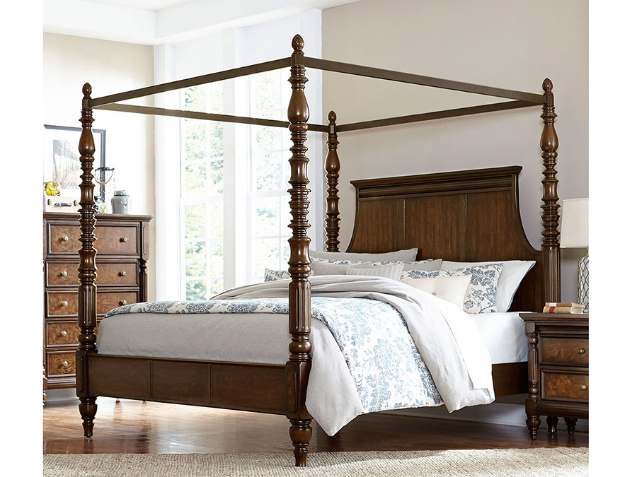 Verlyn Cherry E.King Canopy Bed  sc 1 st  Muuduu Furniture & Verlyn Cherry E.King Canopy Bed - Shop for Affordable Home ...