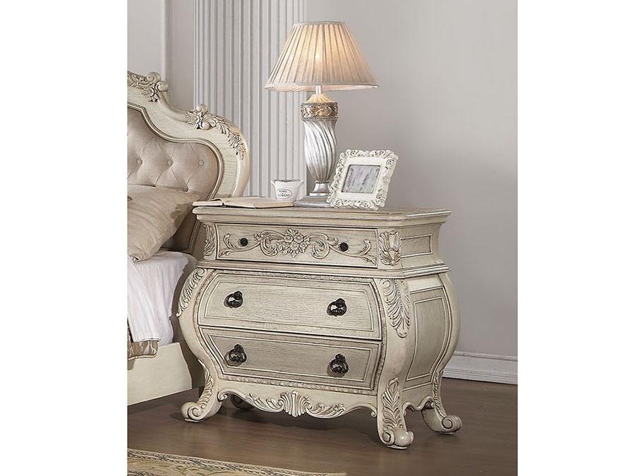 antique white nightstand. Ragenardus Antique White Nightstand