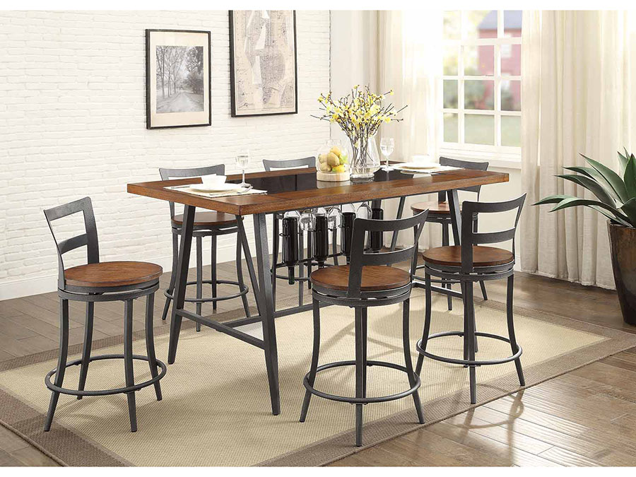 Selbyville Rectangular Counter Height Dining Set