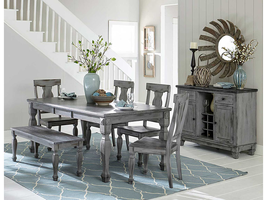 Superb Fulbright 48u2033Dining Bench In Weathered Grey