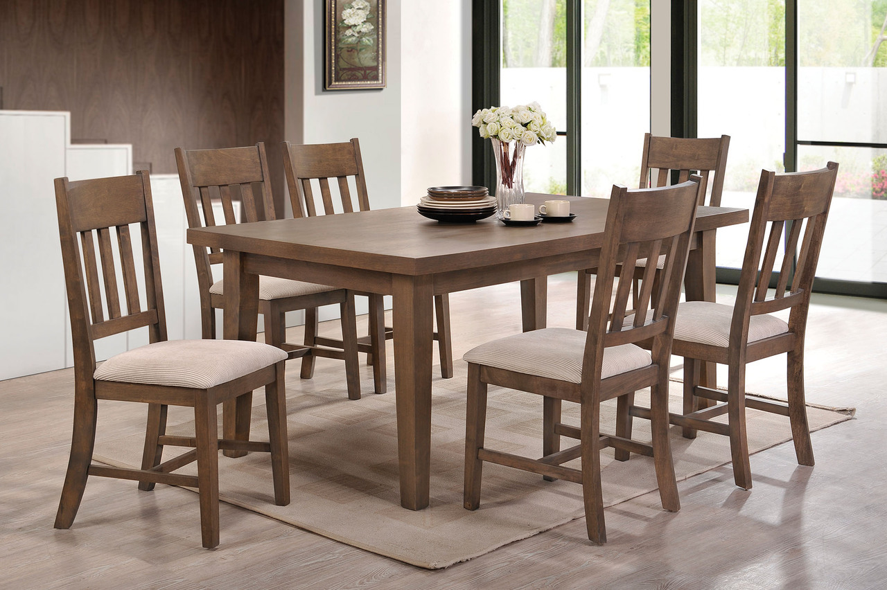 Ulysses weathered oak dining table set