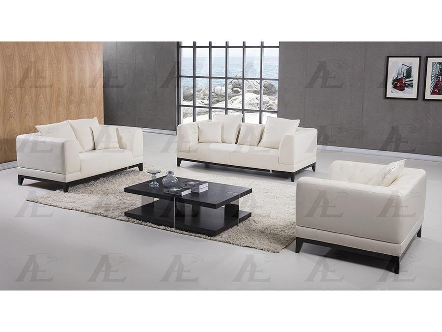 White Italian Full Leather Sofa Set - Shop for Affordable Home ...