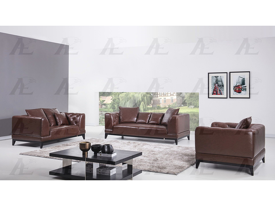 Brown Italian Full Leather Sofa Set - Shop for Affordable Home ...