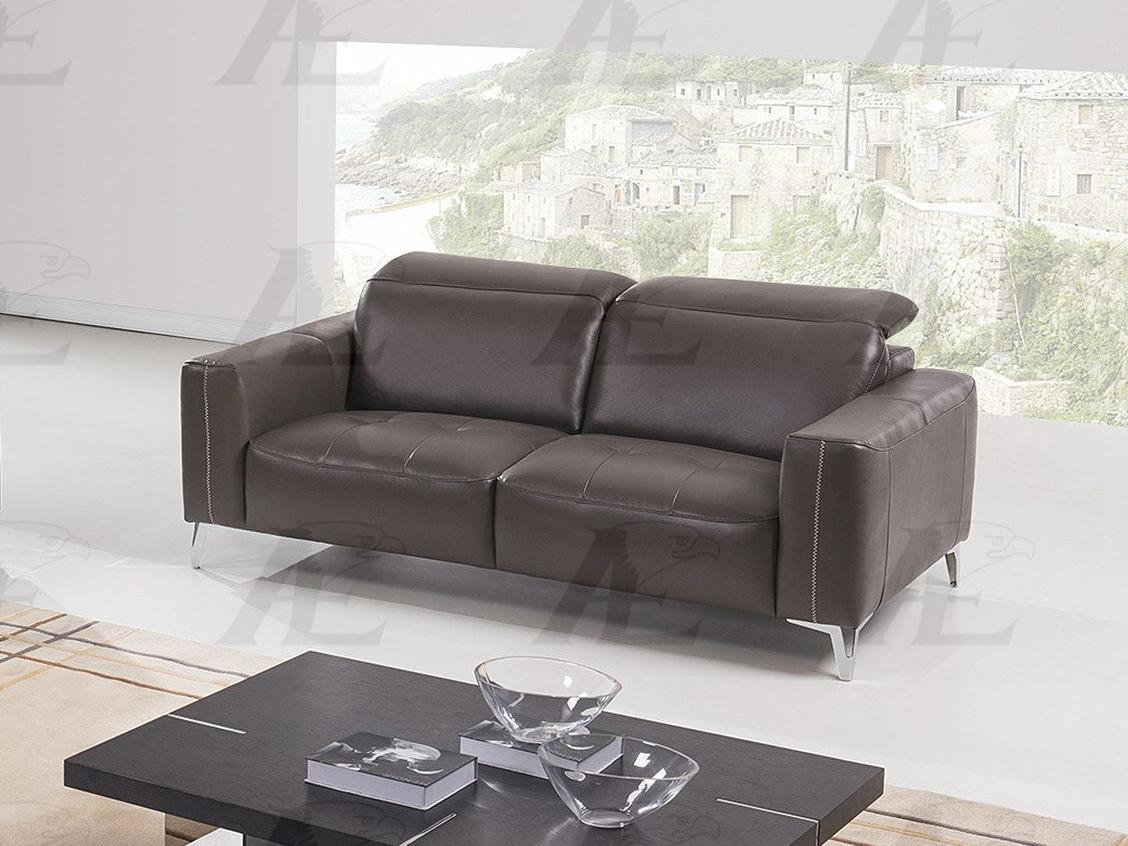 Taupe Italian Full Leather Sofa