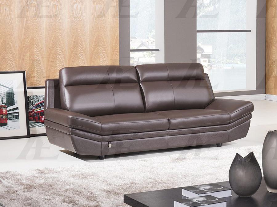 Dark Chocolate Italian Leather Sofa