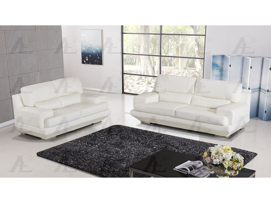 White Genuine Leather Sofa Set - Shop for Affordable Home Furniture ...