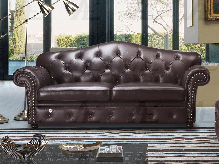 Brown Italian Leather Sofa