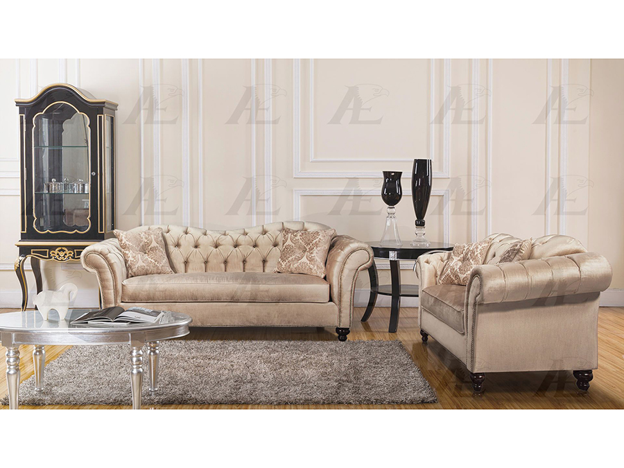 Champagne Fabric Sofa Set Shop For Affordable Home