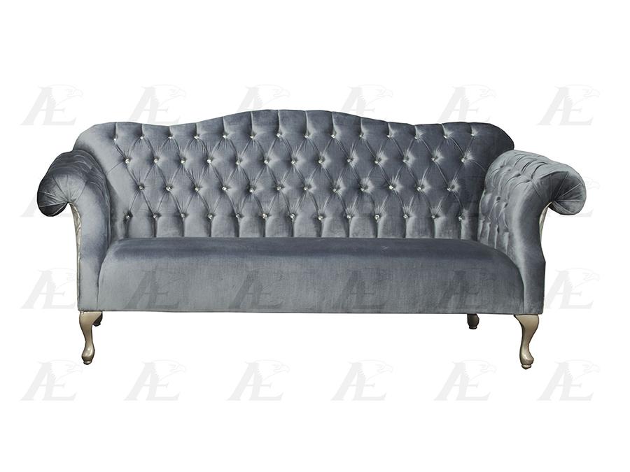 Light Blue Fabric Sofa