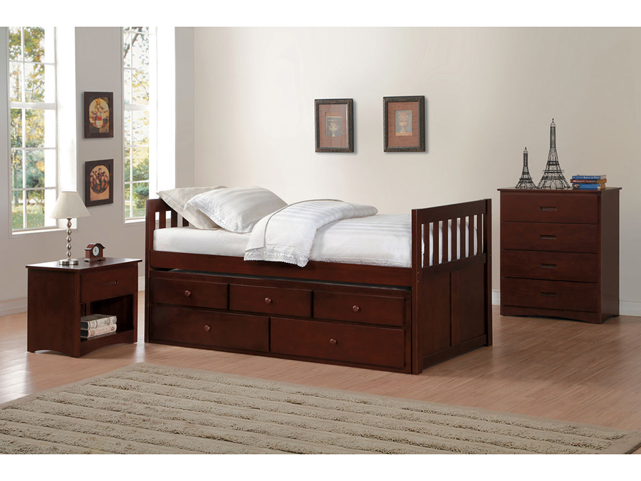 Rowe Twin Twin Trundle Bed With Two Storage Drawers Shop For