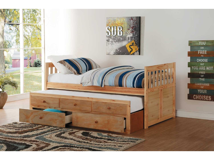 Bartly Twin Twin Trundle Bed With Two Storage Drawers Shop For