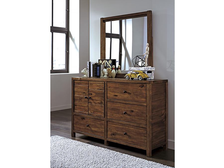 Fennison Light Brown Dresser