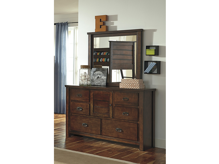 Ladiville rustic brown dresser shop for affordable home for Affordable furniture ville platte la