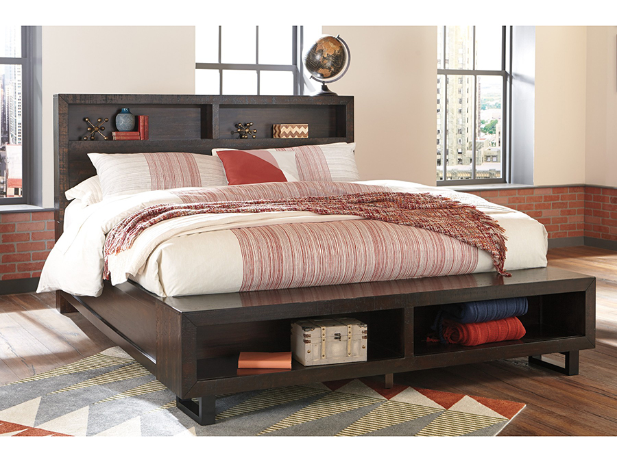 Parlone Dark Brown E King Storage Bed With Bench Shop For Affordable Home Furniture Decor
