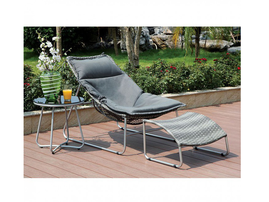 Lili Patio Chair W Ottoman Set Shop For Affordable Home Furniture
