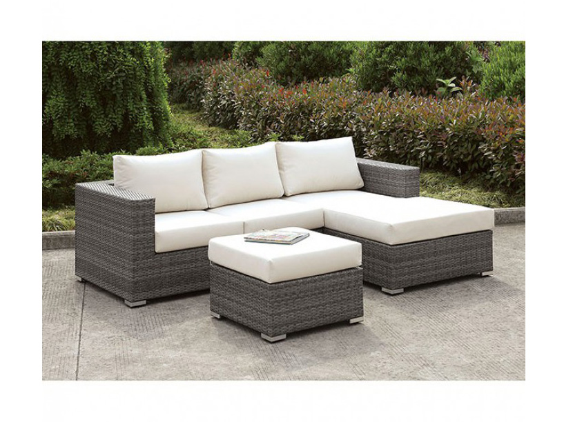 Somani Outdoor Small L Sectional W Right Chaise