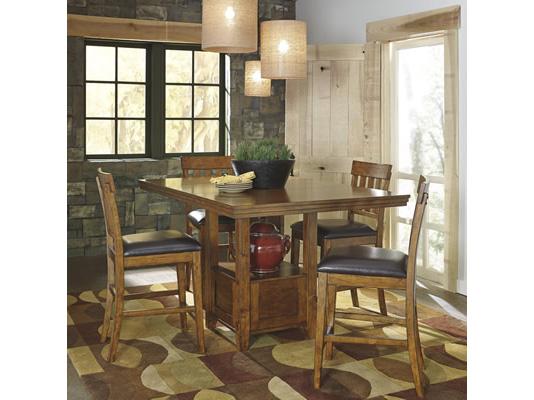 2pcs Ralene Medium Brown Upholstered Barstool Shop For